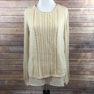 Lucky Brand Shimmer Knit Sweater